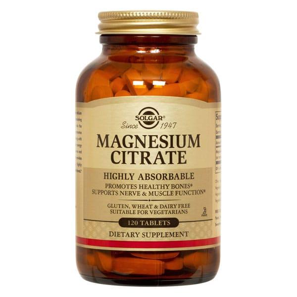 Magnesium Citrate Solgar 120